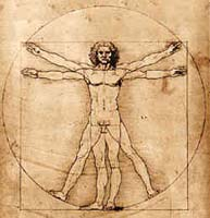 da vinci sketch of man