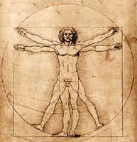 da vinci sketch of man
